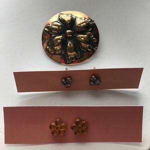 Jewelry - Pin, Earrings, Goldtone Vintage pieces